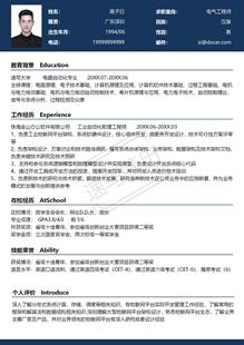 物联网架构师简历模板