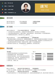 交易系统软件测试工程师简历模板