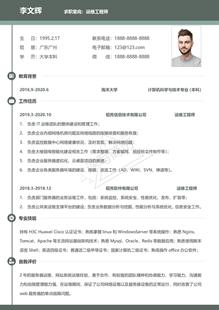 资深网络运维工程师简历