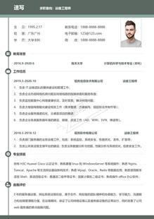 网络公司运维工程师简历